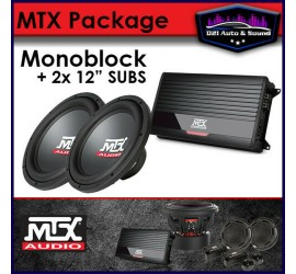 MTX AUDIO 2x SUB + AMP BASS...