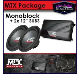 MTX AUDIO 2x SUB + AMP BASS...