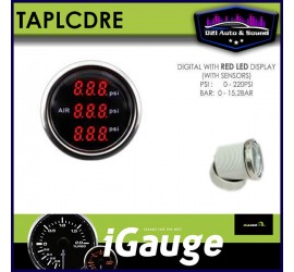 Triple Air Pressure Gauge...